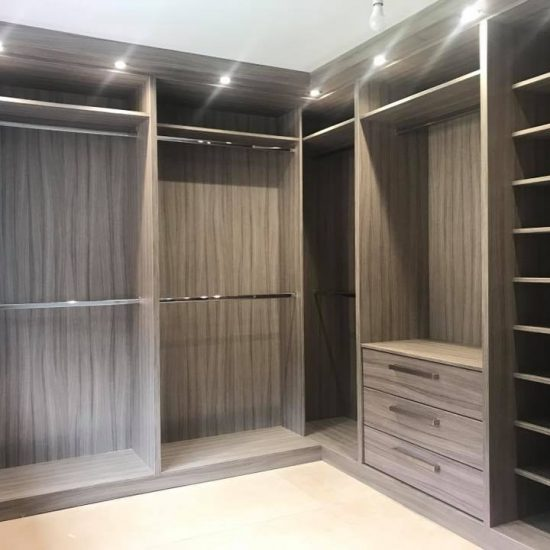 A recent walk in wardrobe that we did in driftwood for Millwall footballer Lee Gregory in Sheffield