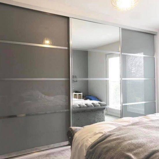 Metallic grey & mirror