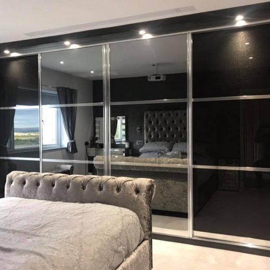 Sparkle black and smoke mirror