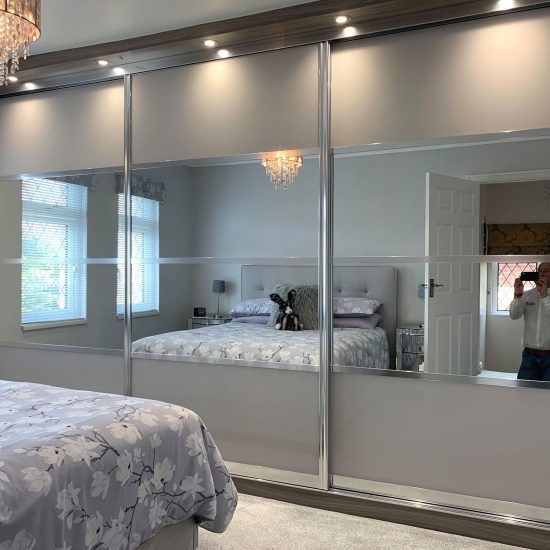 clouded and mirrored sliding wardrobes
