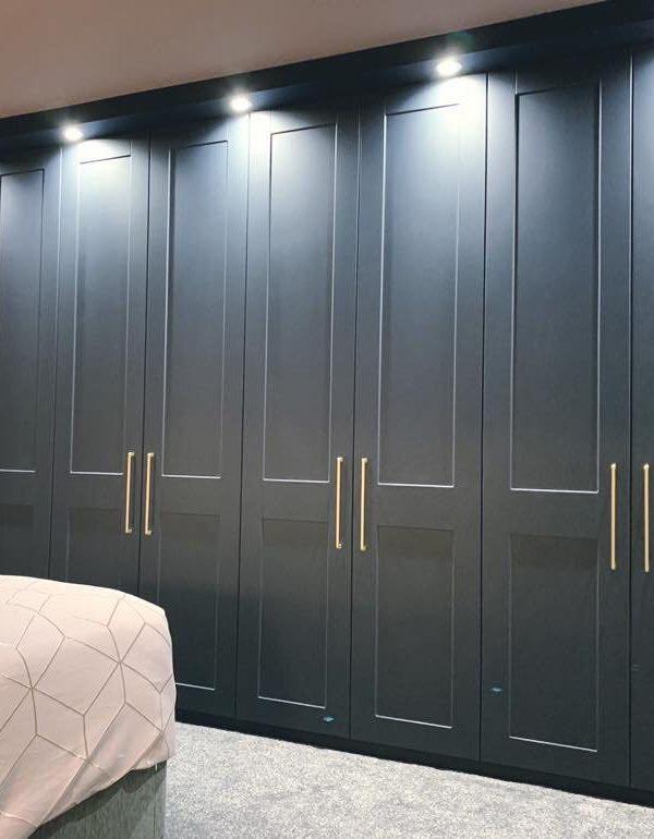 grey 8 door wardrobe