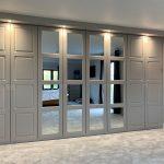 six door mirrored wardrobe