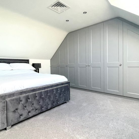 Bespoke attic wardrobes fitted in Sheffield by James Kilner.