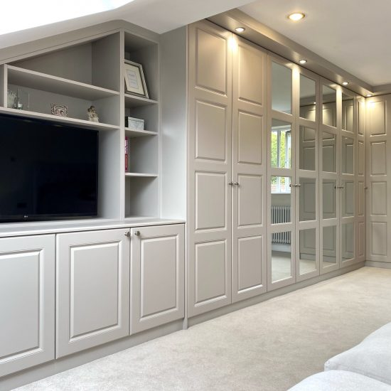 4 panel cashmere hinged wardrobes fitted in Rotherham by James Kilner