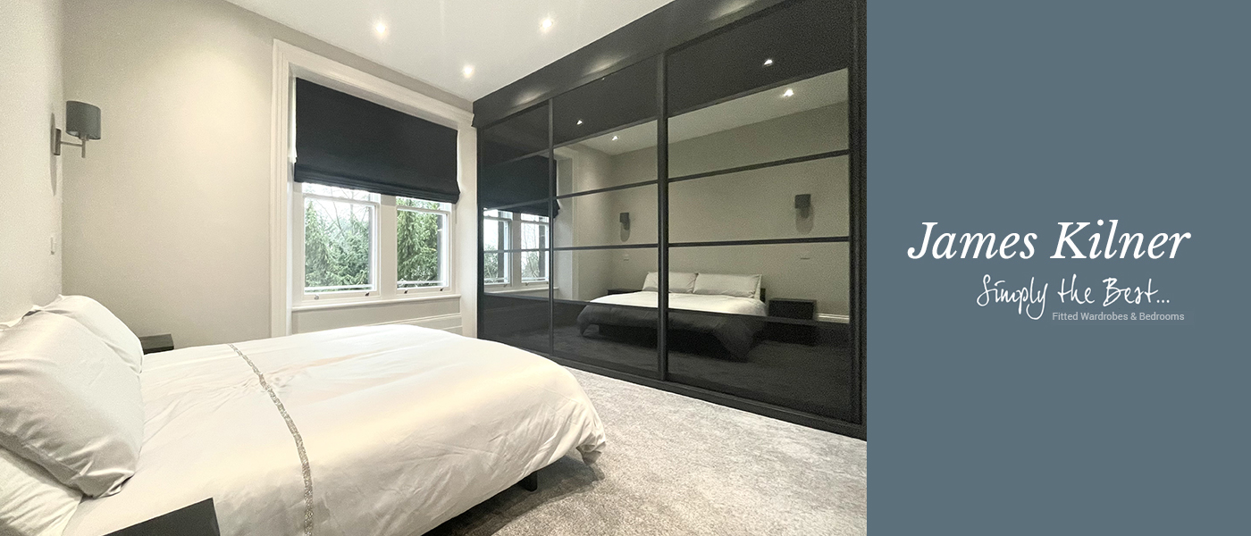 5 Panel black and mirror bespoke sliding wardrobes fitted in Sheffield by James Kilner
