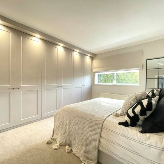 Cashmere eclipse hinged wardrobes fitted in Sheffield by James Kilner